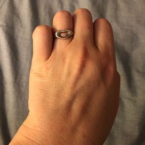 Tiffany Silver Open Heart Ring